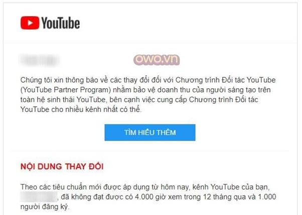Đạt được 4000 giờ xem trong một năm là điều kiện để bạn trở thành đối tác Youtube