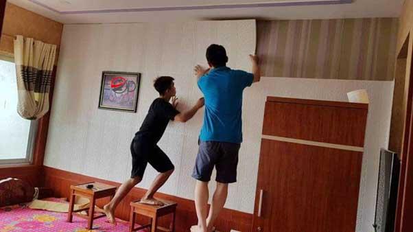Tranh Xốp dán tường Hoa Lư - Xưởng tranh xốp sàn gỗ 097436.00.60